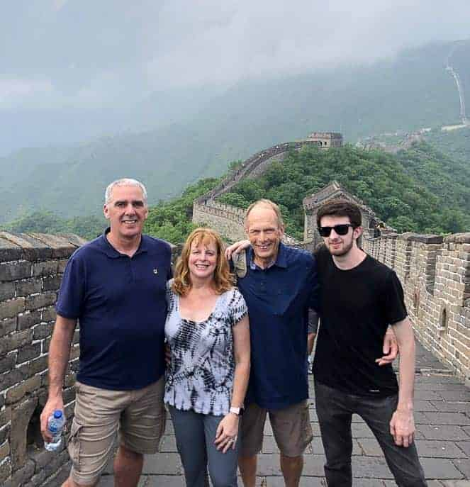 Picture of family at the Great Wall