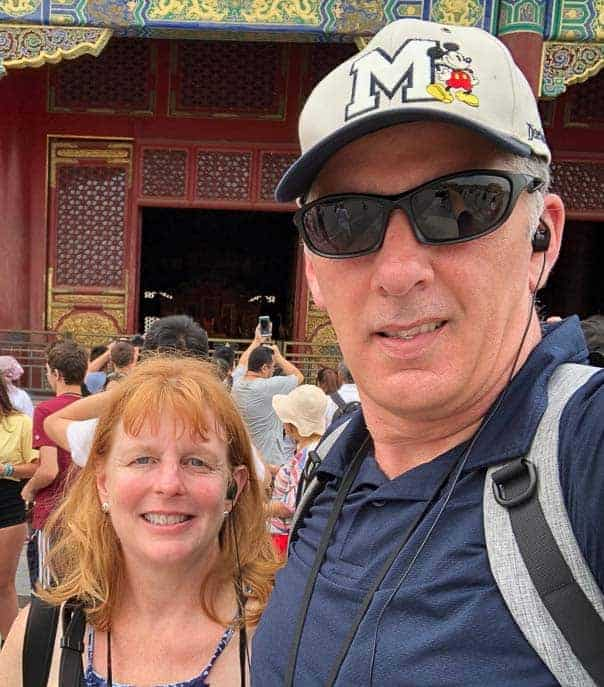 Pat and Amy in front of the Temple of Heaven
